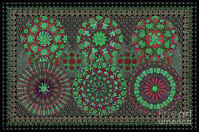 Tribal Art Gallery Painting - Decorative Design Art 34l by Gull G