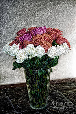 Digital Art - Decorative Digital Floral A1277 by Mas Art Studio