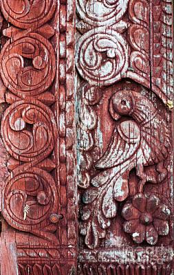 Carved Bird Photograph - Decorative Door Design by Tim Gainey