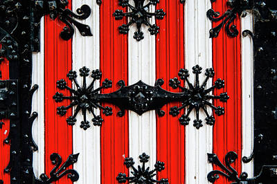 Photograph - Decorative Door Details Of De Haar Castle by Jenny Rainbow