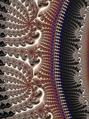 Digital Art - Decorative Fractal Texture Gray Brown Black by Matthias Hauser