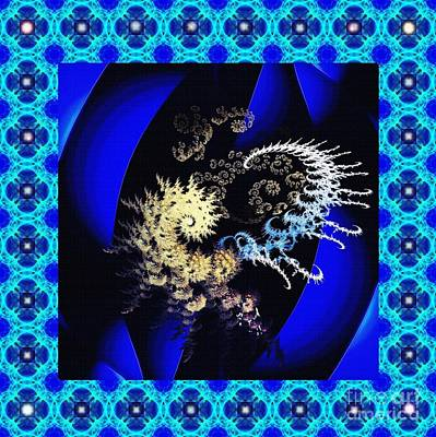 Digital Art - Decorative Fractal Tile 3 by Sarah Loft