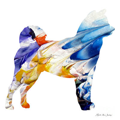 Painting - Decorative Husky Abstract O1015e by Mas Art Studio