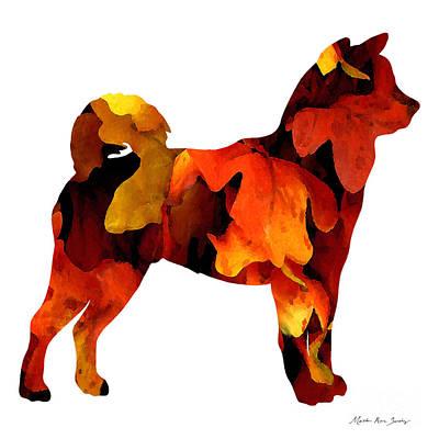 Painting - Decorative Husky Abstract O1015r by Mas Art Studio