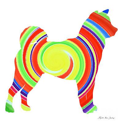 Painting - Decorative Husky Abstract O1215s by Mas Art Studio