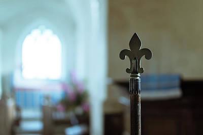 Photograph - Decorative Indoor Religious Flag Pole by Jacek Wojnarowski