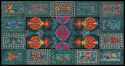 Tribal Art Gallery Painting - Decorative Interior Art 1 by Gull G