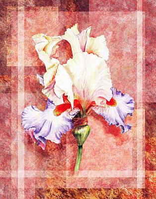 Painting - Decorative Iris Flower by Irina Sztukowski