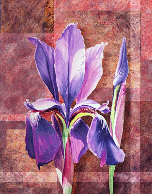 Painting - Decorative Iris by Irina Sztukowski