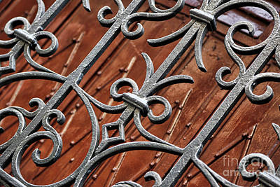 Photograph - Decorative Ironwork With Warm Wood by Carol Groenen
