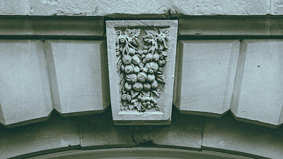 Photograph - Decorative Keystone Architecture Details H by Jacek Wojnarowski