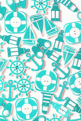 Decorative Marine Scene Art Print