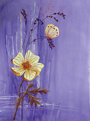 Mixed Media - Decorative Painting 3 Butterfly by Christine MARTIN