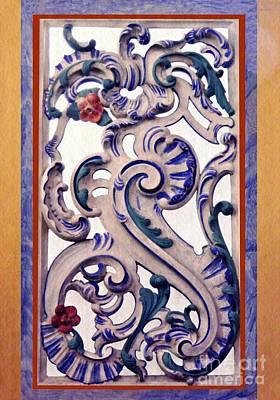 Photograph - Decorative Panel In Schierstein Church 2 by Sarah Loft