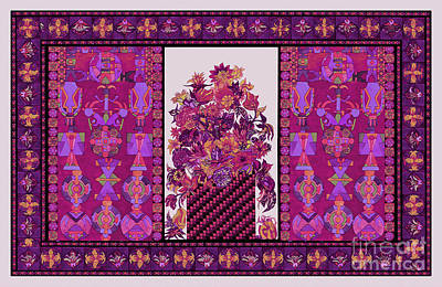 Tribal Art Painting - Decorative Pattern 45yt by Gull G