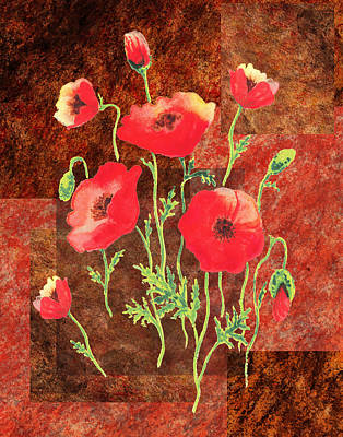 Painting - Decorative Poppies by Irina Sztukowski