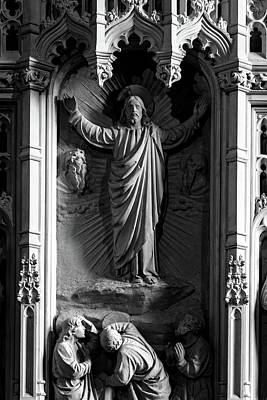 Photograph - Decorative Sculpture Of Jesus In Niche by Jacek Wojnarowski
