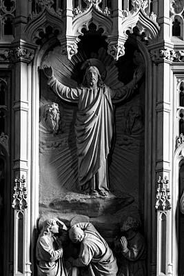 Photograph - Decorative Sculpture Of Jesus In Niche by Jacek Wojnarowski
