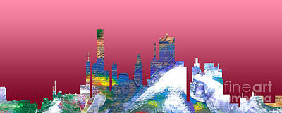 Painting - Decorative Skyline Abstract  Houston T1115a by Mas Art Studio