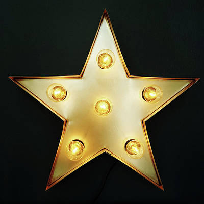 Decorative Photograph - Decorative Star With Light Bulbs by GoodMood Art
