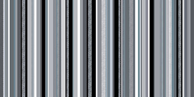 Digital Art - Decorative Stripe - Blue Gray Stripes  by Val Arie