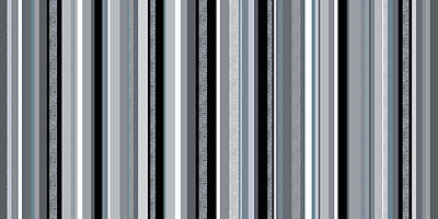Digital Art - Decorative Stripe - Blue Gray Stripes  by Val Arie