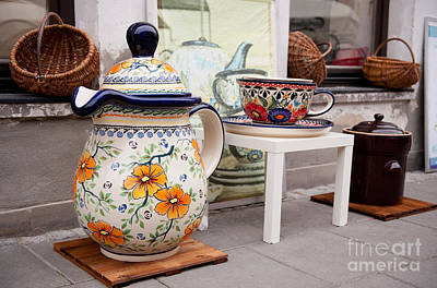 Decorative Traditional Earthenware Art Print by Arletta Cwalina