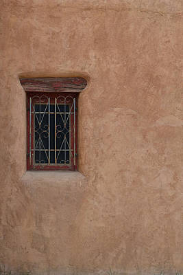 Photograph - Decorative Window In Adobe by Nadalyn Larsen