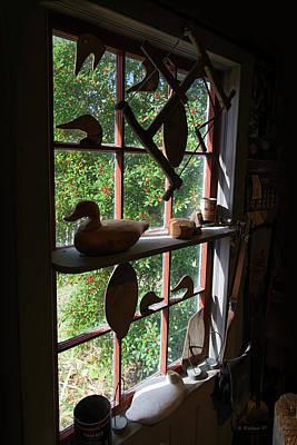 Decoy Workshop Window Art Print