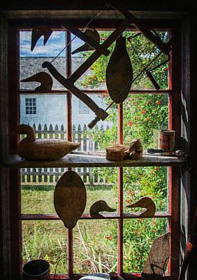 Decoy Workshop Window - Textures Art Print