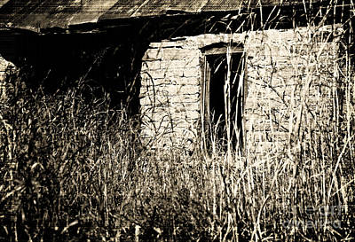 Old Abandoned Farmhouse Photograph - Decrepit With Window by Fred Lassmann