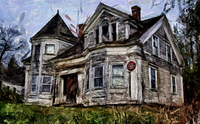 Old Home Place Digital Art - Decrepitude by Mario Carini