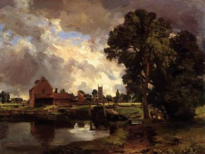 Painting - Dedham Lock And Mill 1818 by Constable John