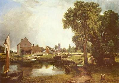 Painting - Dedham Lock And Mill 1820 by Constable John