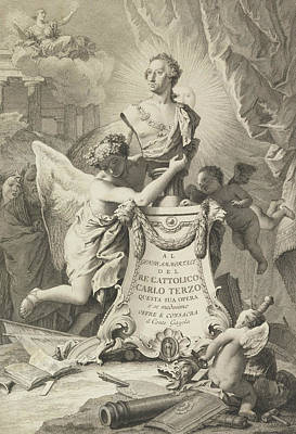 Relief - Dedication Page To Charles IIi Of Spain And The Two Sicilies by Giovanni Battista Tiepolo