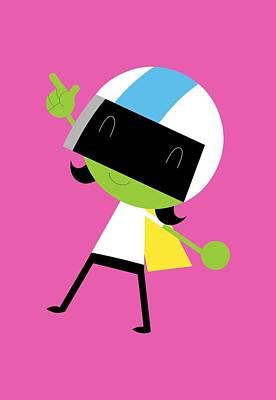Digital Art - Dee Excited by Pbs Kids