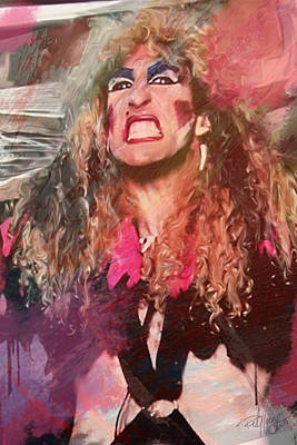 Dee Snider Art Print by Rob Nasty