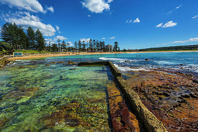 Dee Why Rock Pool Art Print