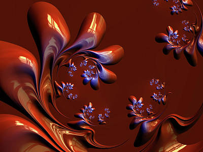 Digital Art - Deep Autumn Abstract Nature by Georgiana Romanovna