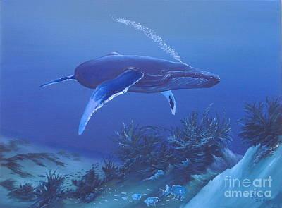 Deep Blue Art Print by Michael Allen