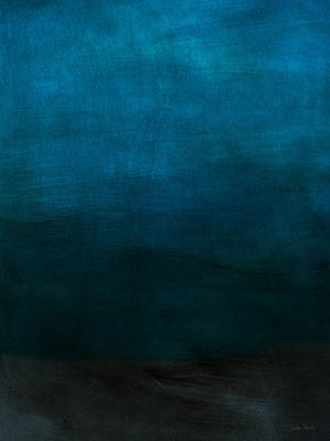 Blue Mixed Media - Deep Blue Mood- Abstract Art By Linda Woods by Linda Woods