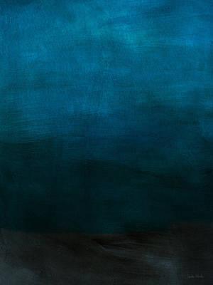 Artwork Mixed Media - Deep Blue Mood- Abstract Art By Linda Woods by Linda Woods