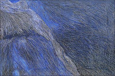 Deep Blue  Art Print by Prakash Bal Joshi