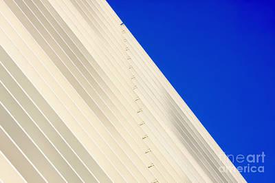 Deep Blue Sky And Office Building Wall Art Print