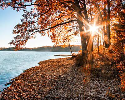Deep River County Park Photograph - Deep Creek Lake Fall II by Neal Blizzard