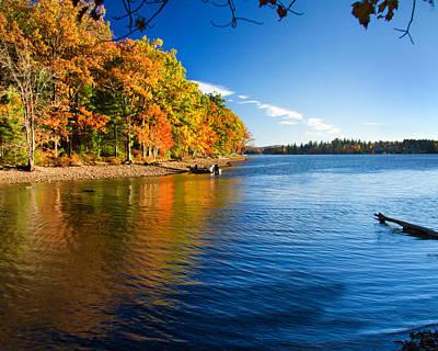 Deep River County Park Photograph - Deep Creek Lake Fall IIi by Neal Blizzard