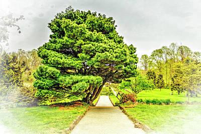 Deep Cute Garden Gazebo Landscape  Art Print