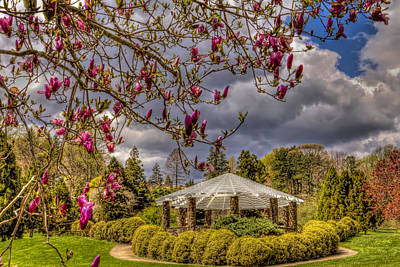Deep Cuts Gardens Gazebo Art Print by Geraldine Scull