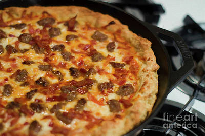 Photograph - Deep Dish Pizza 002 by Andee Design