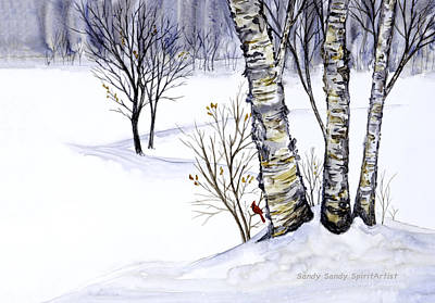 Painting - Deep Down Within Its Heart by Sandy Sandy